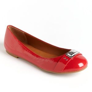 Marc by Marc Jacobs Red Logo Ballet Flats